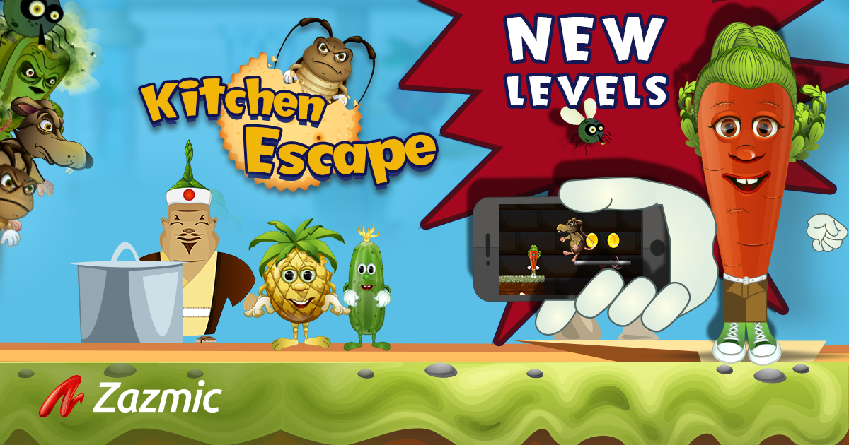 Kitchen Escape by Zazmic Gaming is back with NEW MIND-BLOWING LEVELS!
