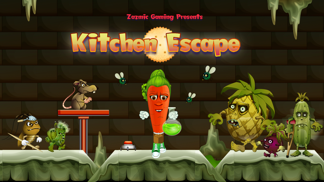 "Zazmic Gaming Presents: ""Kitchen Escape"" on the App Store and Google Play"